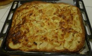 Tarte aux pommes pate levée