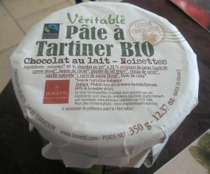 Pâte a tartiner BIO chocolat au lait-noisettes